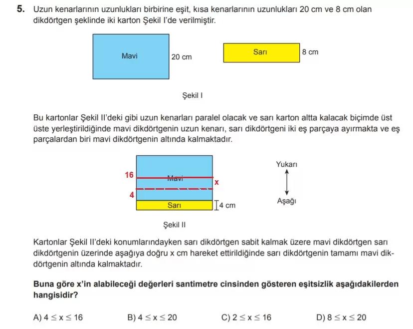 2021 lgs matematik sorulari 5 2021 LGS Çıkmış Matematik Soruları Çöz - PDF