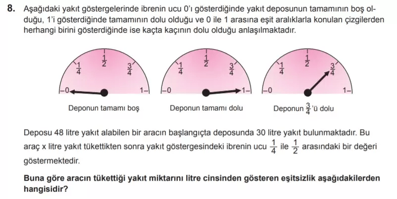 2021 lgs matematik sorulari 8 2021 LGS Çıkmış Matematik Soruları Çöz - PDF