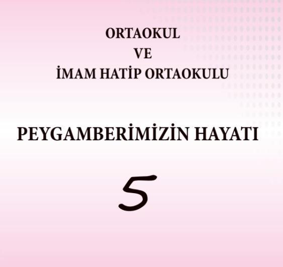 5. Sınıf Peygamberimizin Hayatı Ders Kitabı PDF