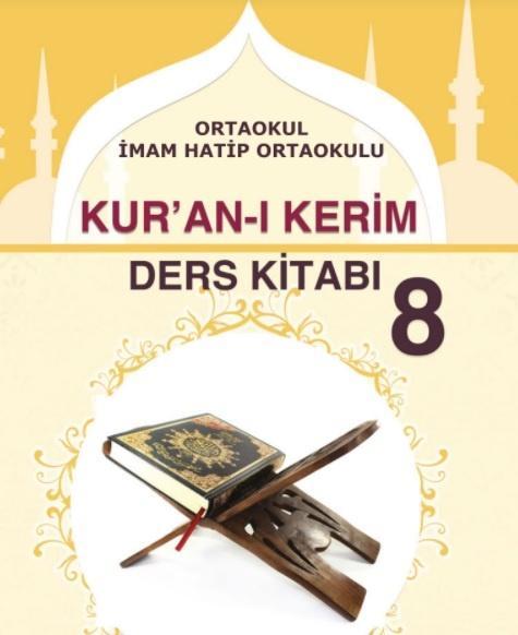 8. Sınıf Kuran-I Kerim Ders Kitabı PDF İndir MEB (2021-2022)