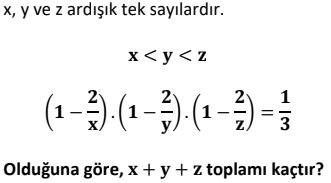 1 2 Ardışık Sayılar Test Çöz Online -1 (TYT KPSS DGS ALES)