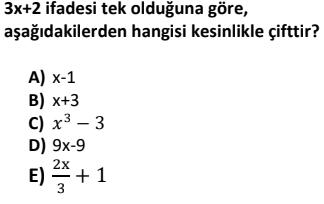 2 1 Tek ve Çift Sayılar Test Çöz Online -1 (TYT KPSS DGS ALES)