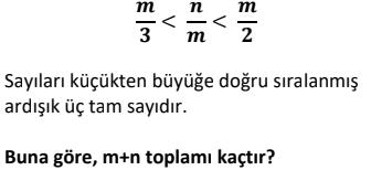 4 2 Ardışık Sayılar Test Çöz Online -1 (TYT KPSS DGS ALES)