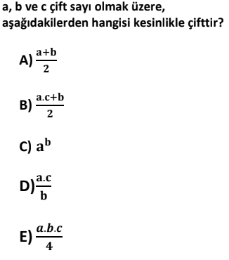 7 1 Tek ve Çift Sayılar Test Çöz Online -1 (TYT KPSS DGS ALES)