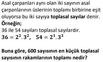9 2 Asal Sayılar Test Çöz Online -1 (TYT KPSS DGS ALES)